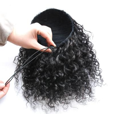 "10 - 30"" Loose Curly Drawstring Ponytail Human Hair Extensions"