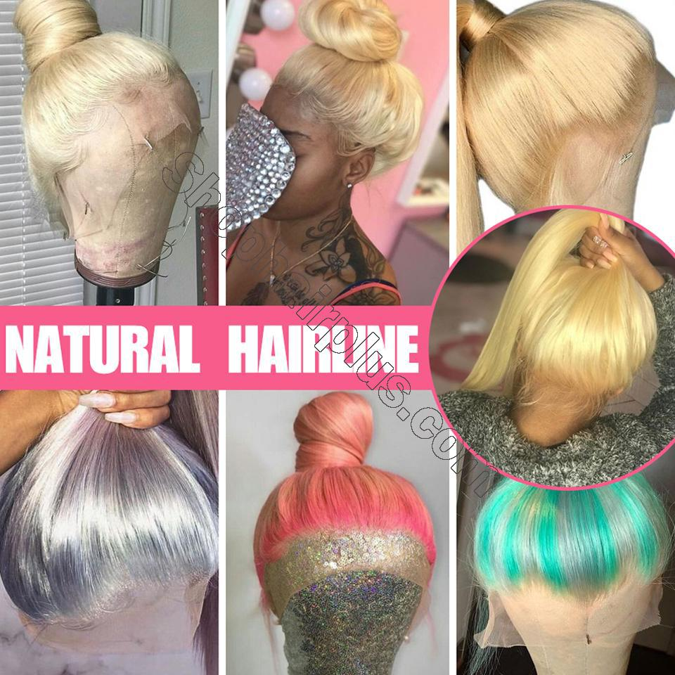 10A Straight Blonde 613 360 Lace & Full Lace Human Hair Wig Invisible Lace Front Wigs Bleach Knots 150%/180% Densit 8