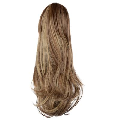 12 - 32 Inch Human Hair Piece Ponytail Extension Drawstring on a Claw Clip Attachment for Women Loose Wave #8/24
