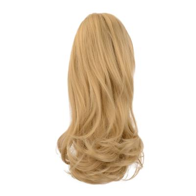 12 - 32 Inch Human Hair Piece Ponytail Extension Drawstring on a Claw Clip Attachment Natural Looking for Women Loose Wave #27