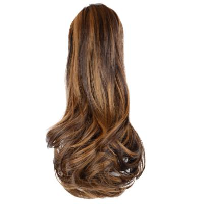 12 - 32 Inch Human Hair Piece Ponytail Extension Drawstring on a Claw Clip Attachment Natural Looking for Women Loose Wave #4/27