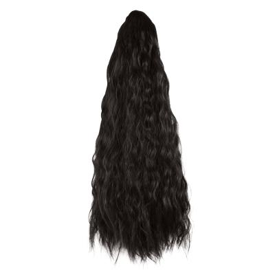 14 - 32 Inch Claw Clip in Ponytail Hair Extension Ponytail Hairpiece for Women Daily Party Use Loose Deep Wave #1B