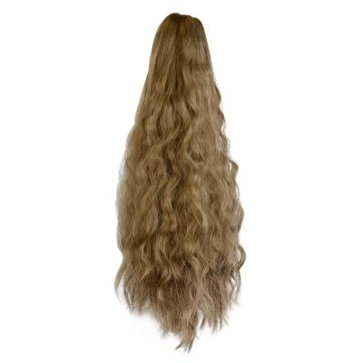 14 - 32 Inch Claw Clip in Ponytail Hair Extension Ponytail Hairpiece for Women Daily Party Use Loose Deep Wave #8/12
