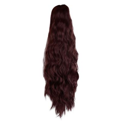 14 - 32 Inch Claw Clip in Ponytail Hair Extension Ponytail Hairpiece for Women Daily Party Use Loose Deep Wave #99J