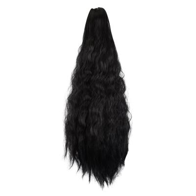 14 - 32 Inch Claw Clip in Ponytail Hair Extension Ponytail Hairpiece for Women Daily Party Use Loose Deep Wave Off Black #1