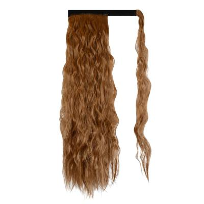 14 - 32 Inch Long Wrap Around Ponytail Extension Clip in Hair Extension for White Black Women Loose Deep Wave #30