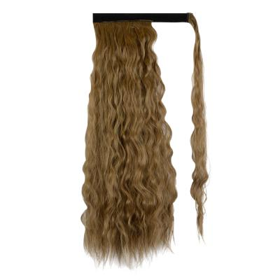 14 - 32 Inch Long Wrap Around Ponytail Extension Clip in Hair Extension for White Black Women Loose Deep Wave #8