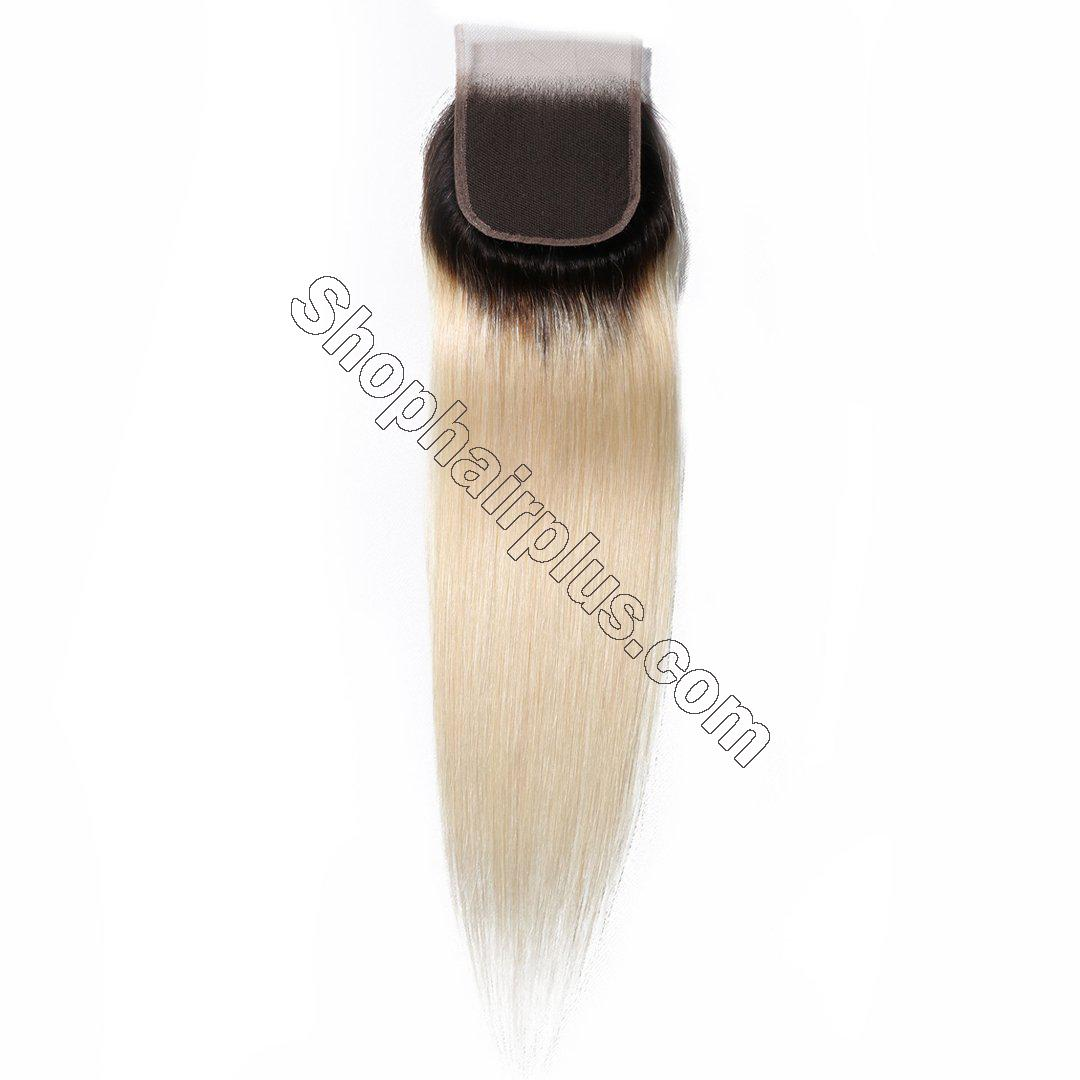 1B/613 T color 4*4 Straight Lace Closure on Deals 5