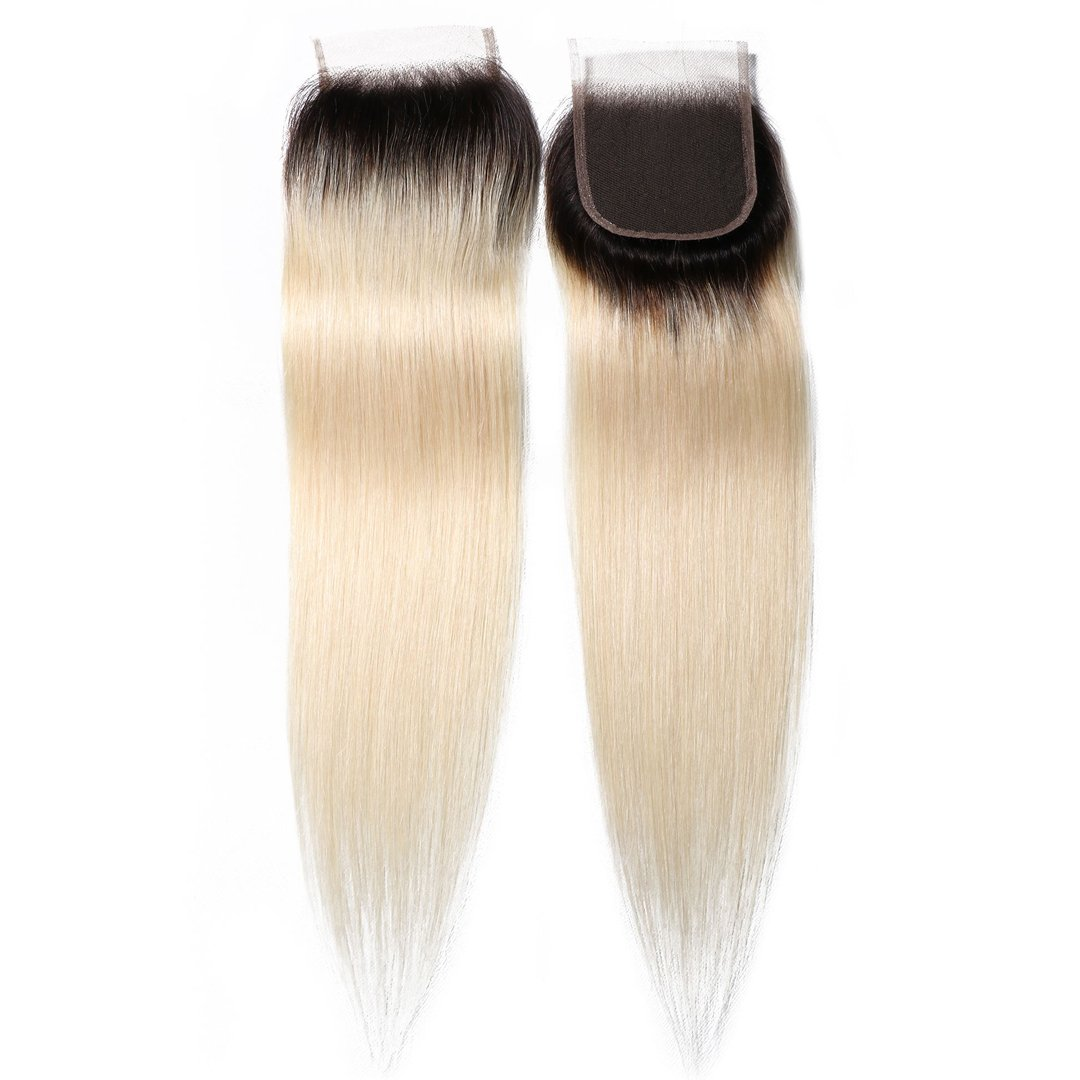 1B/613 T color 4*4 Straight Lace Closure on Deals 8
