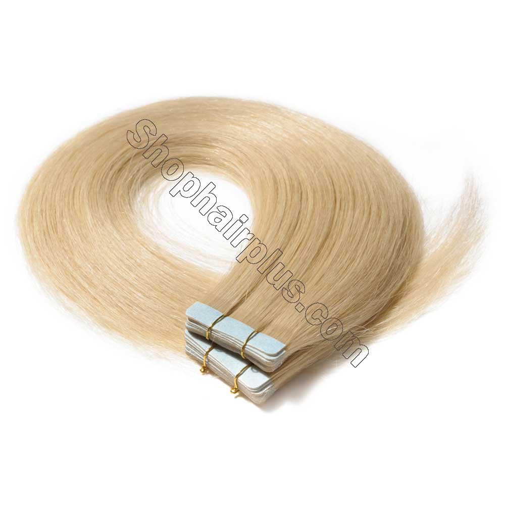 2.5g/s 20pcs Straight Tape In Hair Extensions #613 Bleach Blonde 2