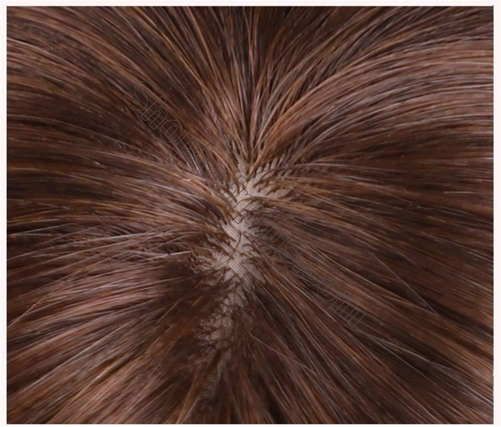 """2""""x3"""" Silk Base Human Hair Toppers Clip in Crown Wiglets Hairpieces for Women Remy Hair 7"""