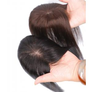 "2""x3"" Silk Base Human Hair Toppers Clip in Crown Wiglets Hairpieces for Women Remy Hair"