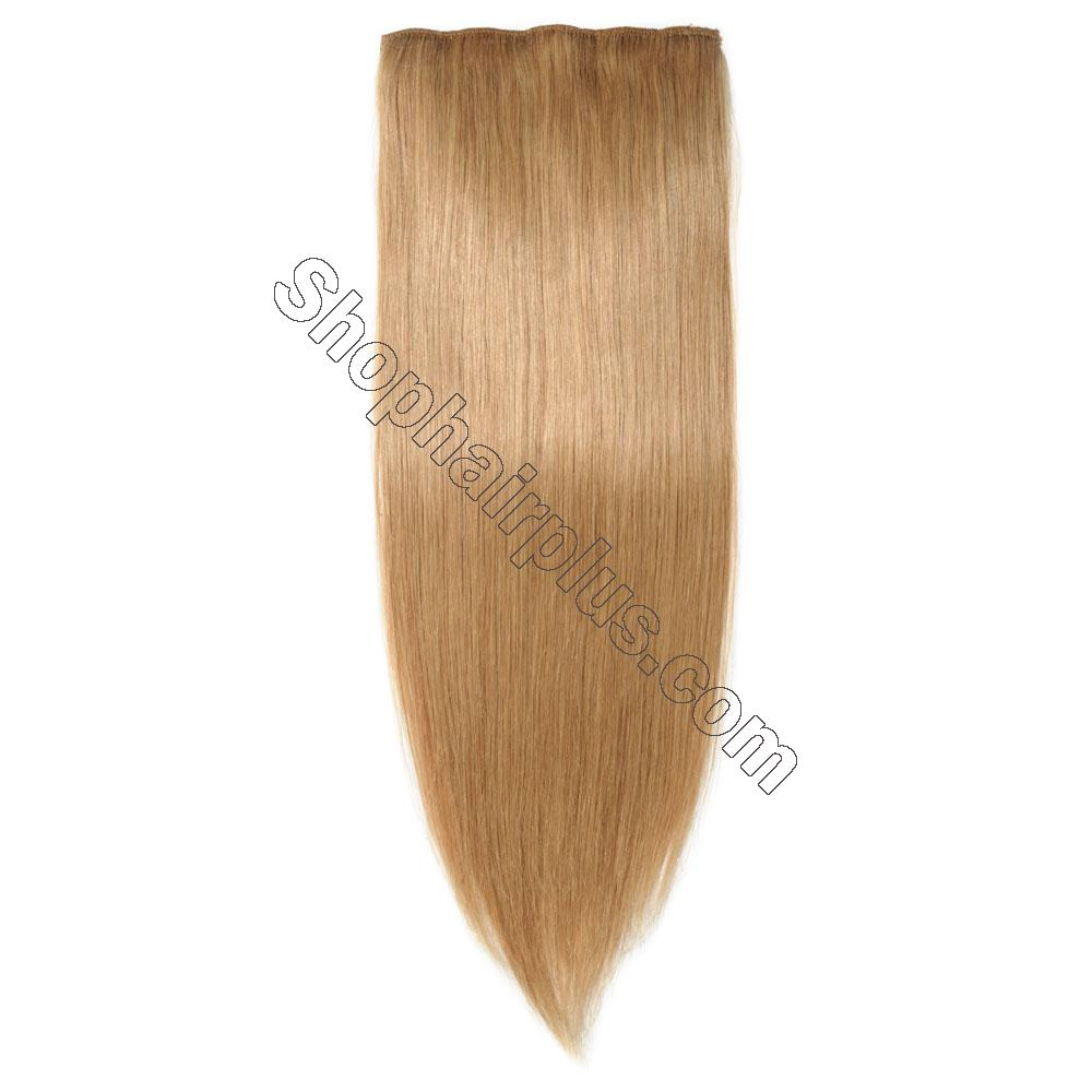 22Inch 8 Pcs Double Weft Straight Clip In Remy Hair Extensions #27 Dark Blonde 6