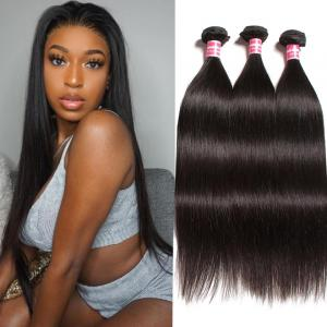 3 Bundles Brazilian Straight Virgin Human Hair, 100% Unprocessed 8A Virgin Human Hair Extension