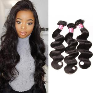 3 Bundles Peruvian Body Wave Virgin Hair, 100% Unprocessed Human Hair Extension Deals