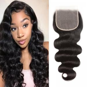 5*5 Transparent Tint Swiss Lace Body Wave Lace Closure