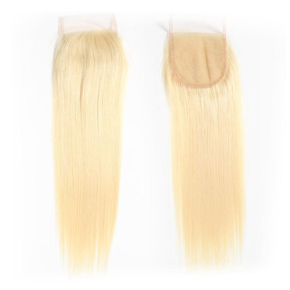 613 Blonde Straight Hair 4*4 Free Part Lace Closure, 100% Human Hair On Deals 9