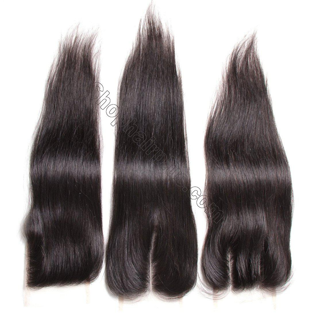 7A Malaysian Straight Virgin Hair 3Bundles with 4x4 Lace Closure 2