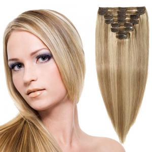 8 Pcs Double Weft Straight Clip In Remy Hair Extensions #18/613