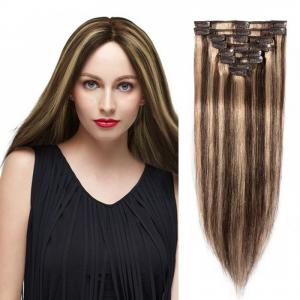 8 Pcs Straight Clip In  Remy Hair Extensions #4/27