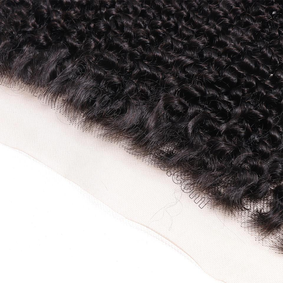 8A Brazilian Hair Kinky Curly Frontal One Piece Only 13x4 Lace Closure Human Hair 5