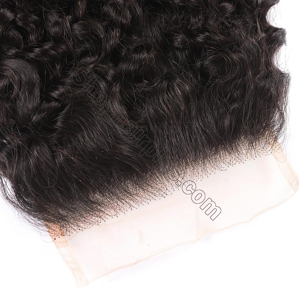 8A Grade Curly Hair Invisible Lace Closure 4x4 Swiss Lace Closure Free Part 4