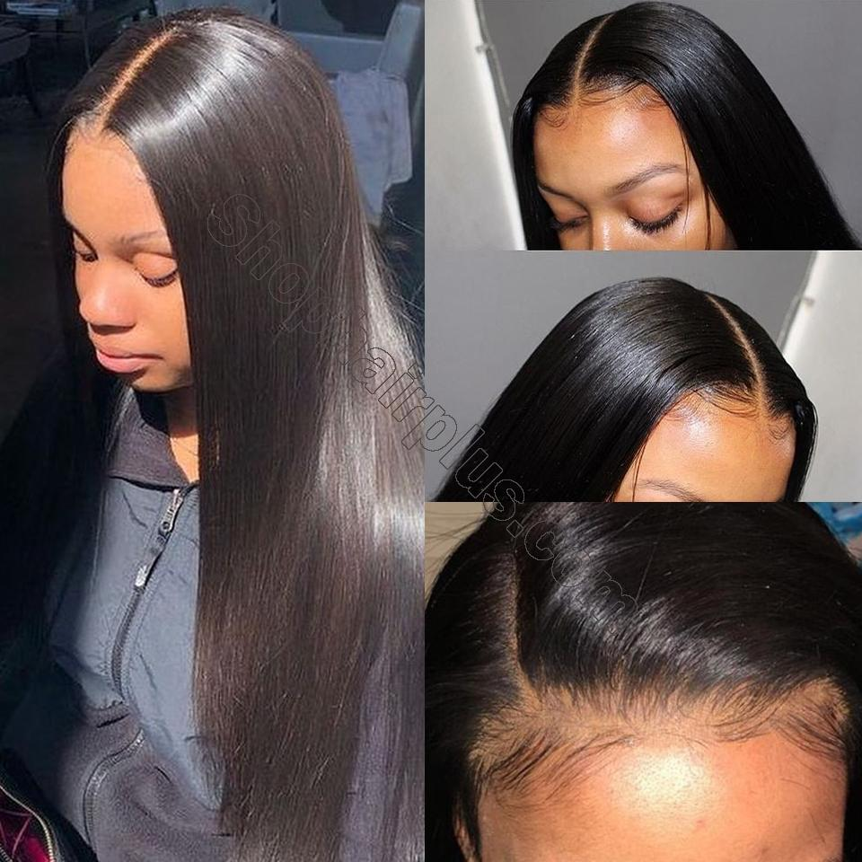 8A Straight Hair 6×6 Closure Human Hair Hand Tied Swiss Lace Front Closure with Baby Hair 7