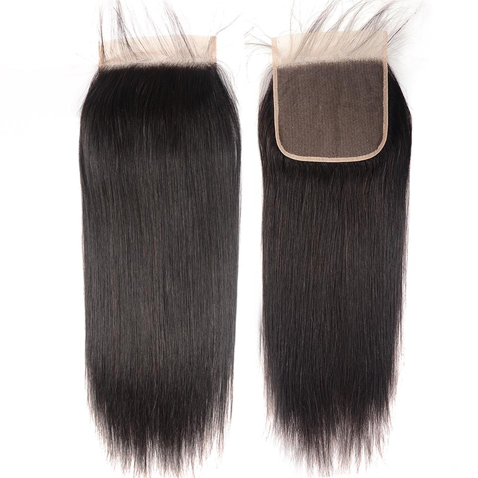 8A Straight Hair 6×6 Closure Human Hair Hand Tied Swiss Lace Front Closure with Baby Hair 9