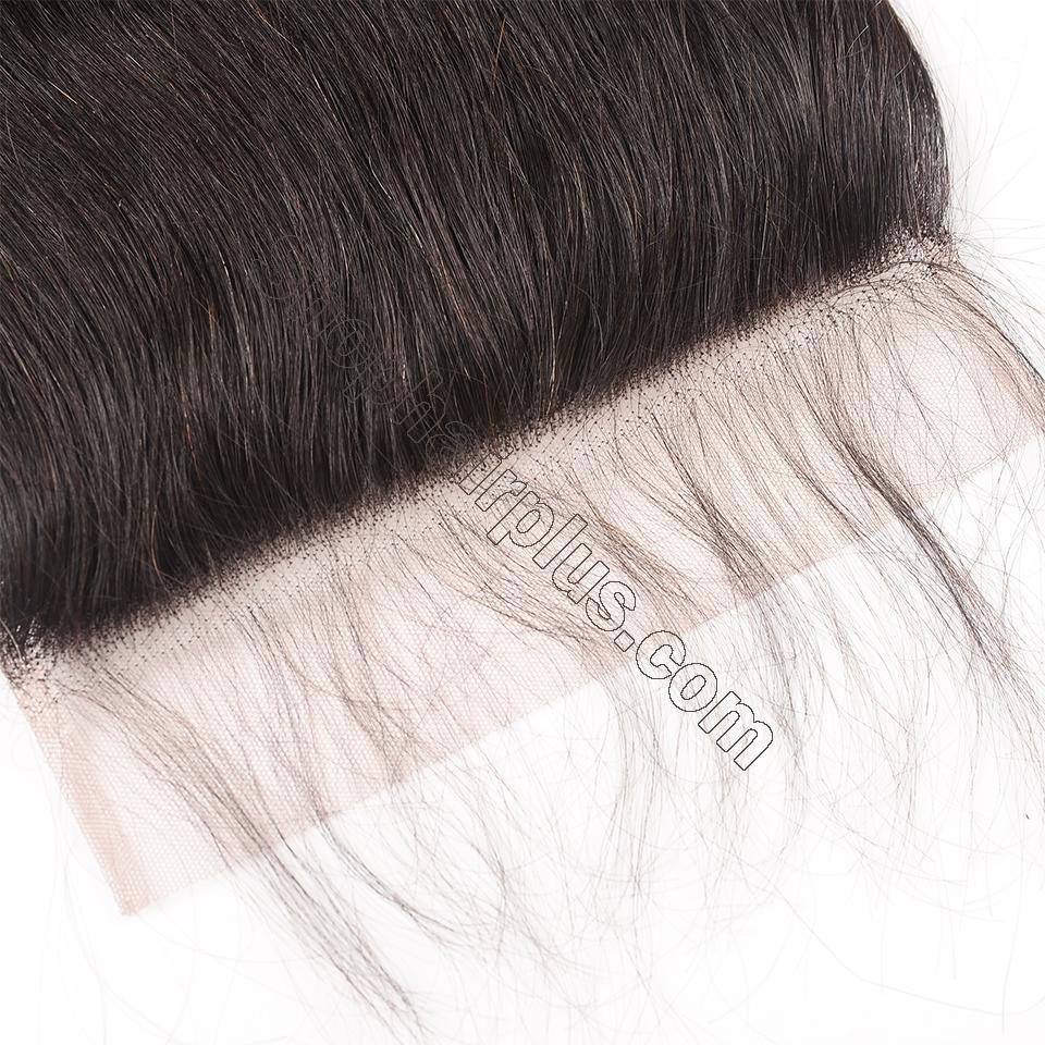 8A Straight Hair 7x7 Lace Closure Virgin Human Hair Free Part Swiss Lace Closure Pre Plucked 5