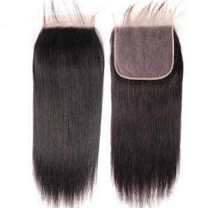 8A Straight Hair 7x7 Lace Closure Virgin Human Hair Free Part Swiss Lace Closure Pre Plucked