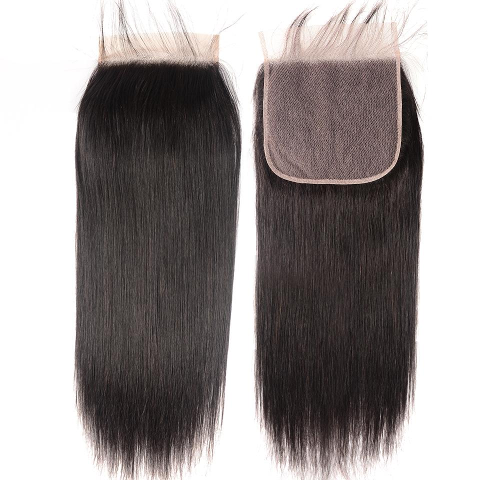 8A Straight Hair 7x7 Lace Closure Virgin Human Hair Free Part Swiss Lace Closure Pre Plucked 9