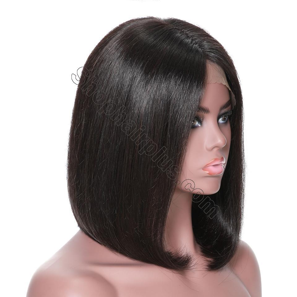 9A 13*4/13*6 150% density Straight Short Bob Wig Lace Front Human Hair Wigs For Black Women 4