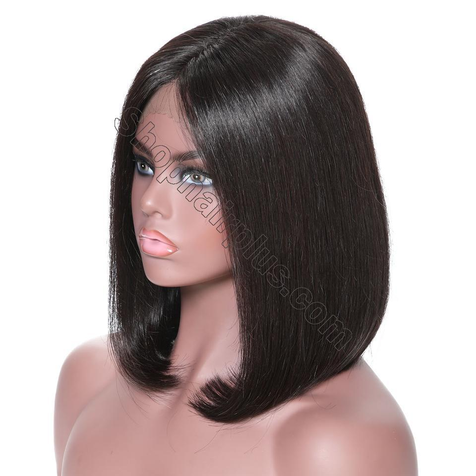 9A 13*4/13*6 150% density Straight Short Bob Wig Lace Front Human Hair Wigs For Black Women 5