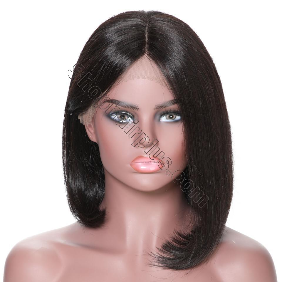9A 13*4/13*6 150% density Straight Short Bob Wig Lace Front Human Hair Wigs For Black Women 6