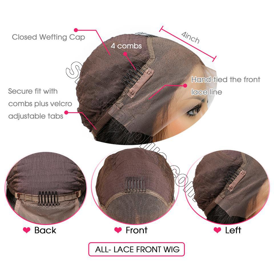 9A 13*4/13*6 150% density Straight Short Bob Wig Lace Front Human Hair Wigs For Black Women 7