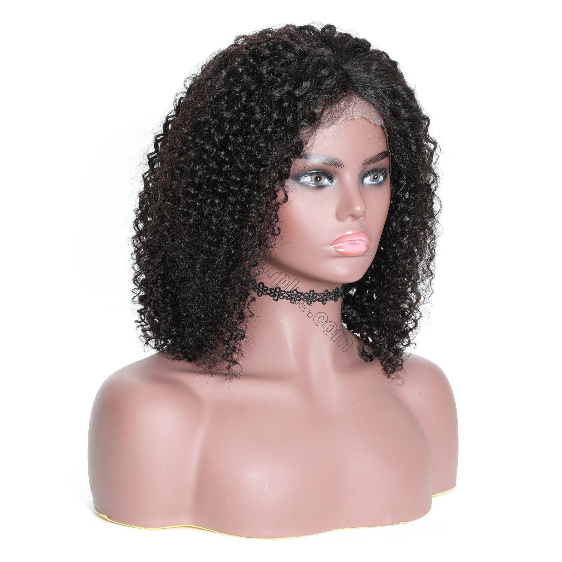 9A 13*4 Short Bob Curly Hair Lace Front Wig On Deals, 150%/180% Densit 3