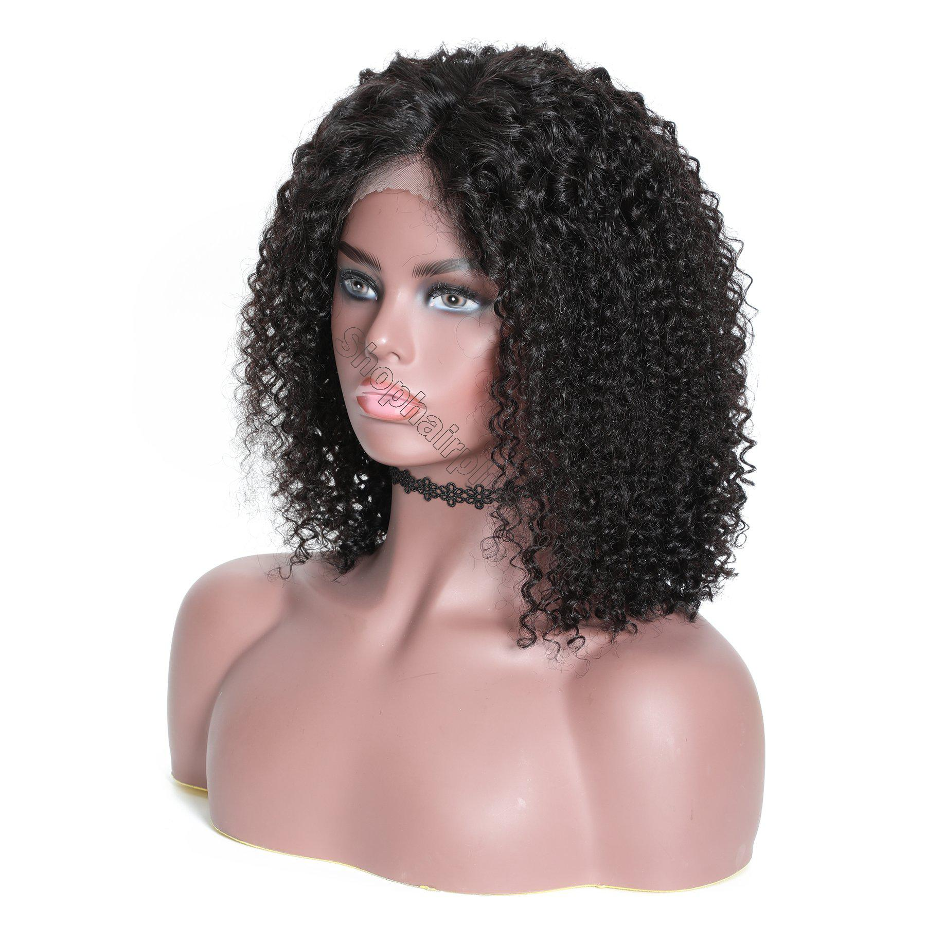 9A 13*4 Short Bob Curly Hair Lace Front Wig On Deals, 150%/180% Densit 9