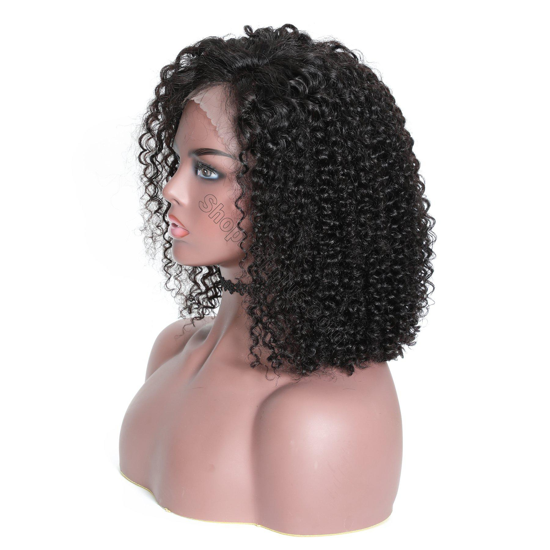 9A 13*4 Short Bob Curly Hair Lace Front Wig On Deals, 150%/180% Densit 11