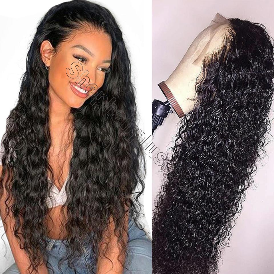 9A 150%/180% Density Water Wave Curly Lace Human Hair Wig, 13*4/13*6 360 Lace Closure 2
