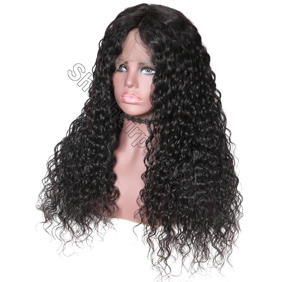 9A 150%/180% Density Water Wave Curly Lace Human Hair Wig, 13*4/13*6 360 Lace Closure 4