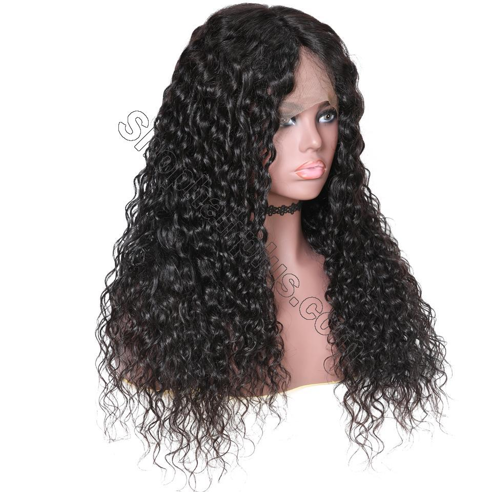 9A 150%/180% Density Water Wave Curly Lace Human Hair Wig, 13*4/13*6 360 Lace Closure 5