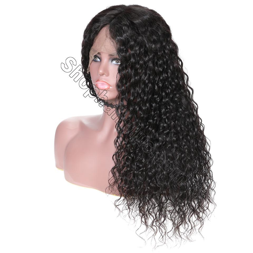 9A 150%/180% Density Water Wave Curly Lace Human Hair Wig, 13*4/13*6 360 Lace Closure 6