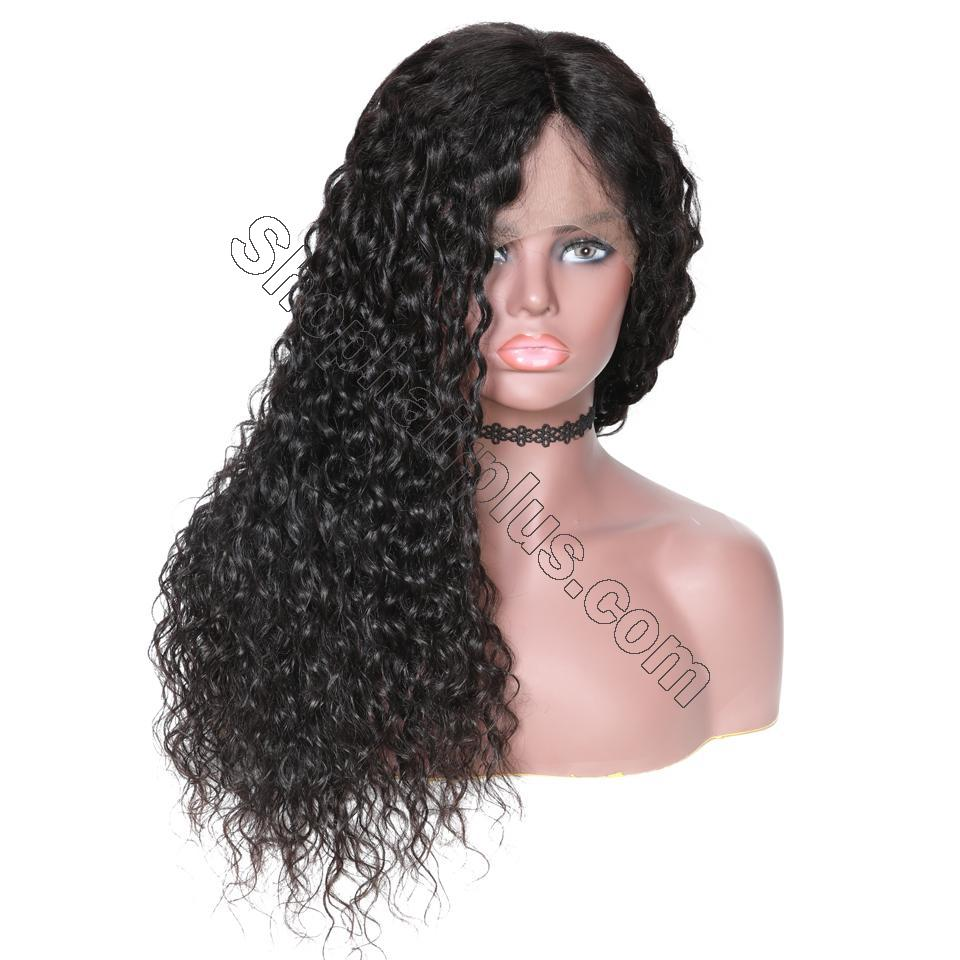 9A 150%/180% Density Water Wave Curly Lace Human Hair Wig, 13*4/13*6 360 Lace Closure 7