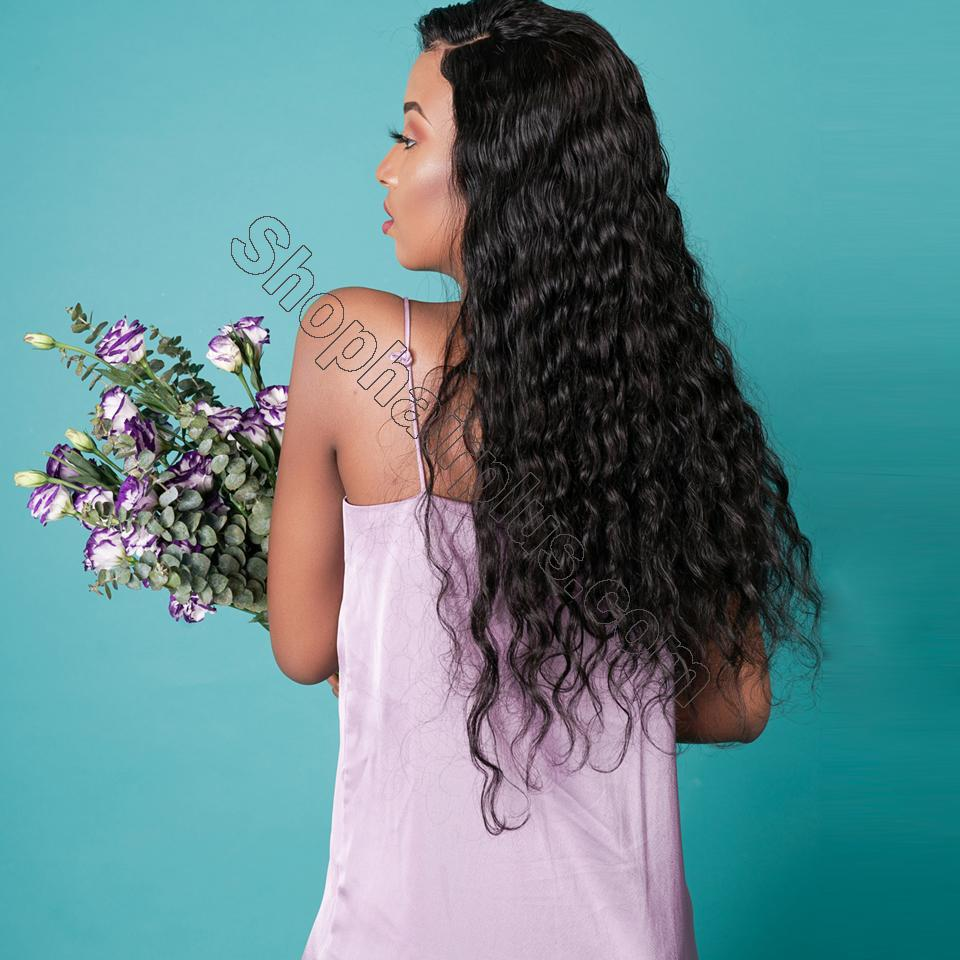 9A 150%/180% Density Water Wave Curly Lace Human Hair Wig, 13*4/13*6 360 Lace Closure 8