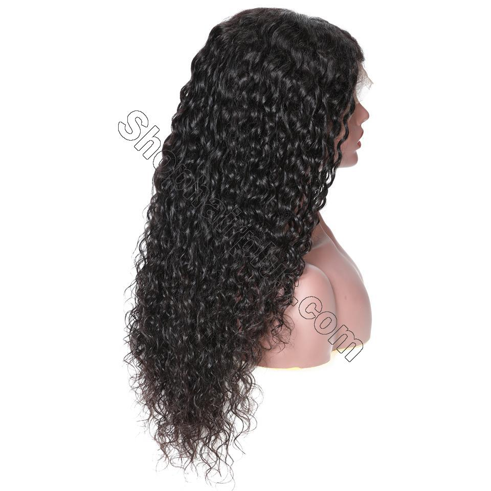 9A 150%/180% Density Water Wave Curly Lace Human Hair Wig, 13*4/13*6 360 Lace Closure 9