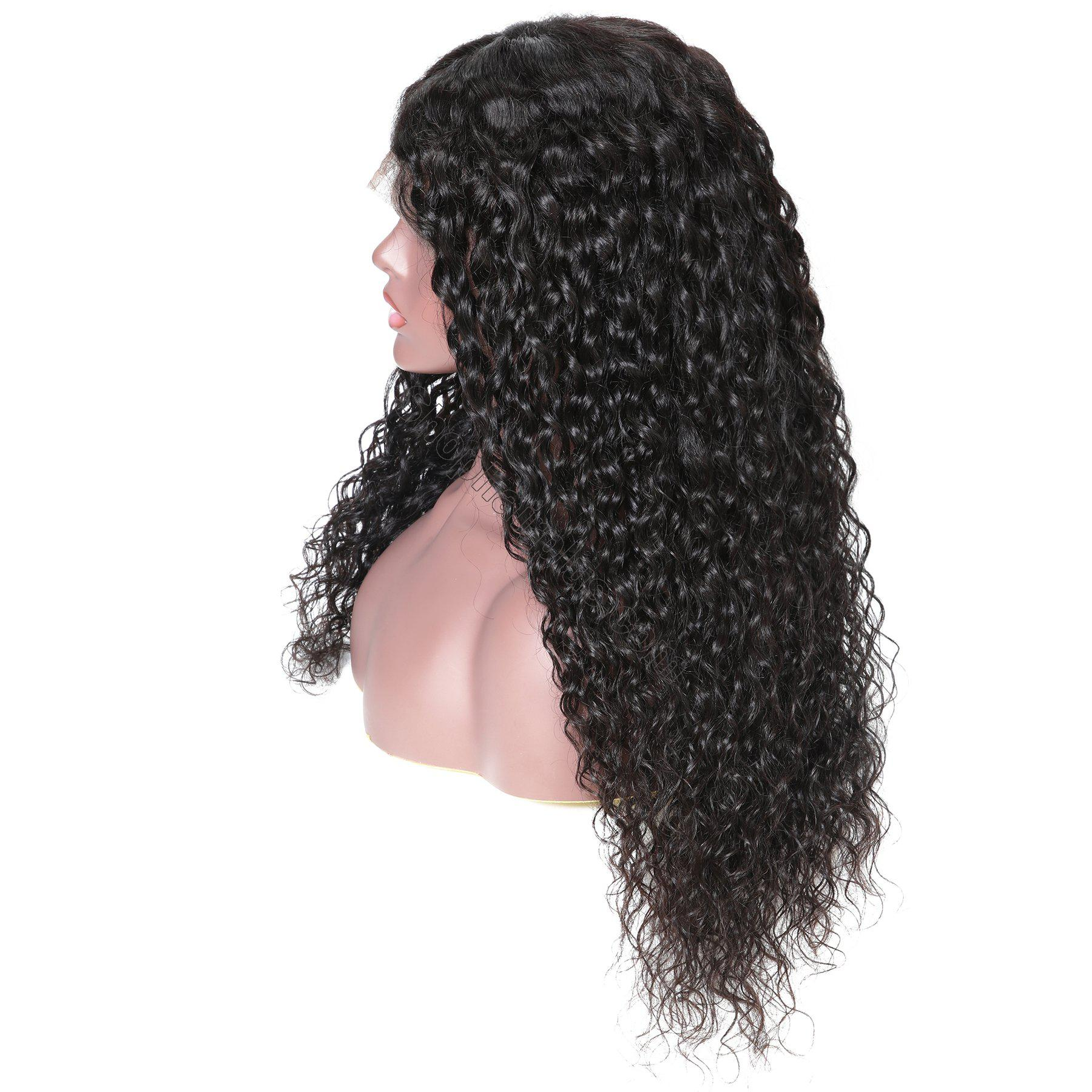 9A 150%/180% Density Water Wave Curly Lace Human Hair Wig, 13*4/13*6 360 Lace Closure 10