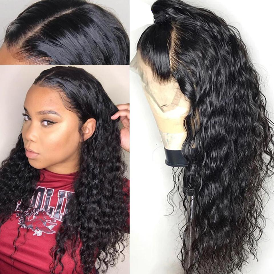 9A 150%/180% Density Water Wave Curly Lace Human Hair Wig, 13*4/13*6 360 Lace Closure 12