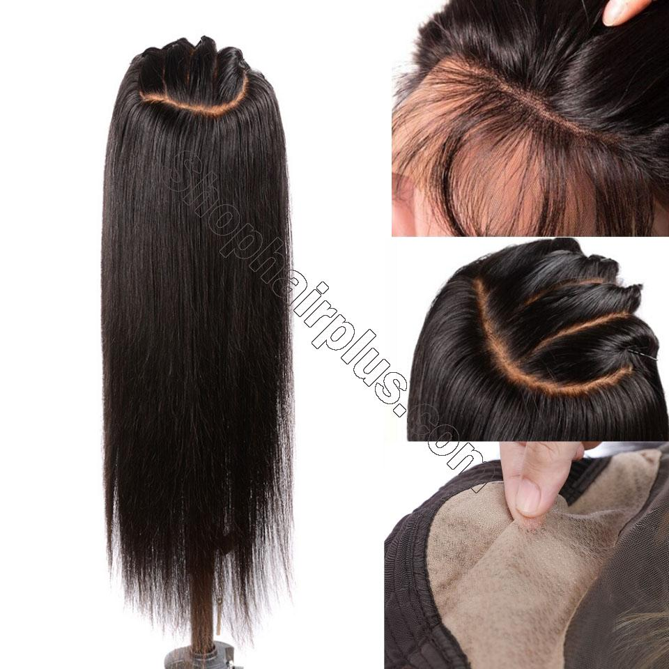 9A 150% Fake Scalp 13*4 13*6 Lace Wig, Preplucked Invisible Glueless Human Hair Wig 2