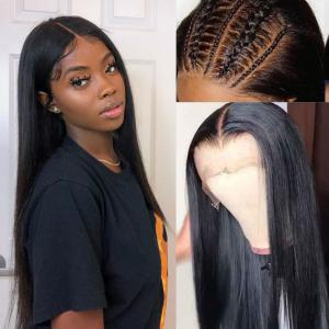 9A 150% Fake Scalp 13*4 13*6 Lace Wig, Preplucked Invisible Glueless Human Hair Wig