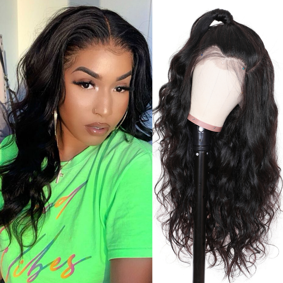 9A Body Wave Lace Front Wig, Human Hair Wigs With Baby Hair, 8-24inch 2